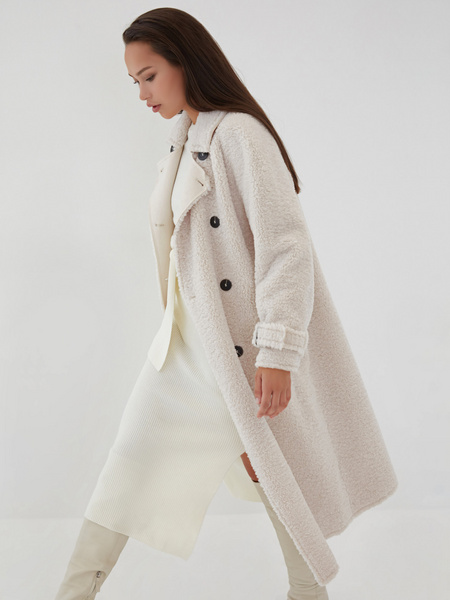 Двубортное пальто - фото 7