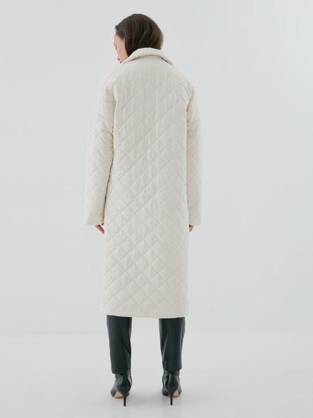 Стеганое пальто на поясе - фото 7