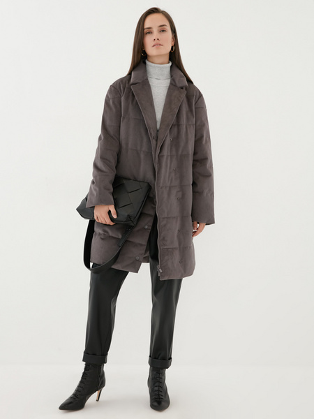 Пальто на поясе - фото 7