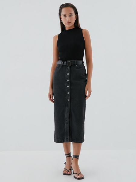 Джинсовая юбка-карандаш - фото 1