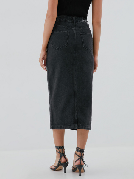 Джинсовая юбка-карандаш - фото 4