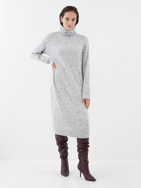 Теплое платье-миди - фото 4