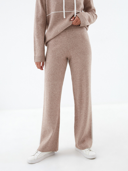 Широкие трикотажные брюки - фото 2