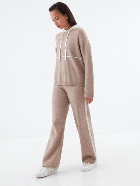 Широкие трикотажные брюки - фото 5