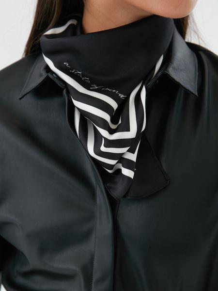 Атласный платок с принтом - фото 1