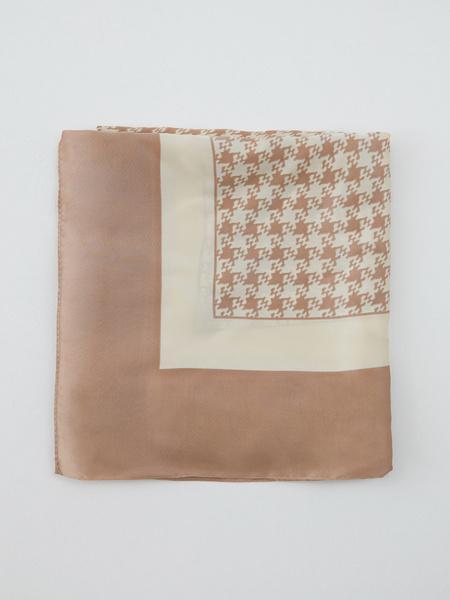 Атласный платок с принтом - фото 4