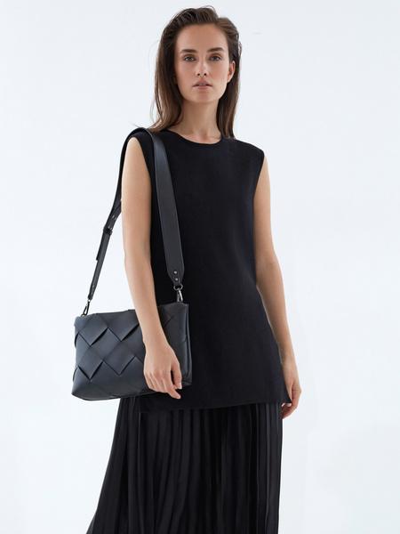 Плетеная сумка из искусственной кожи