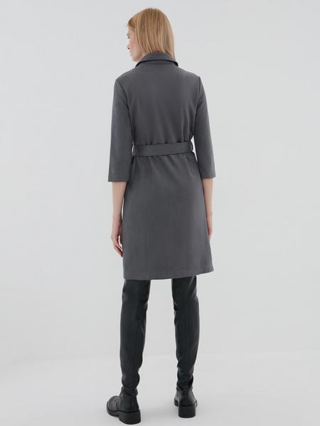 Замшевое платье-рубашка - фото 4