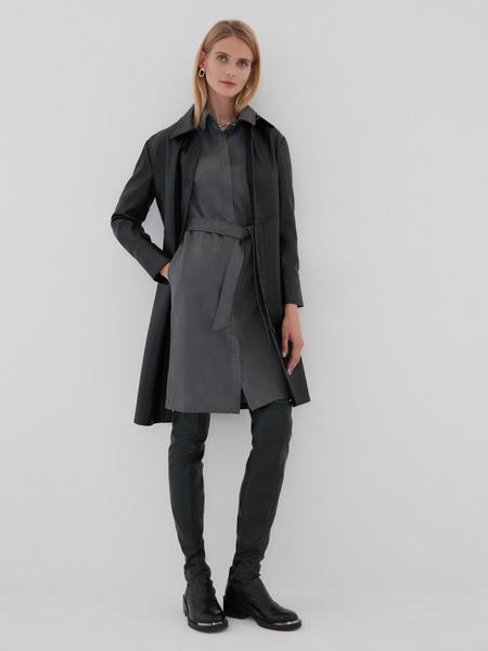 Замшевое платье-рубашка - фото 5
