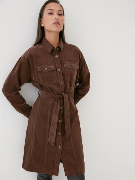 Вельветовое платье - фото 1