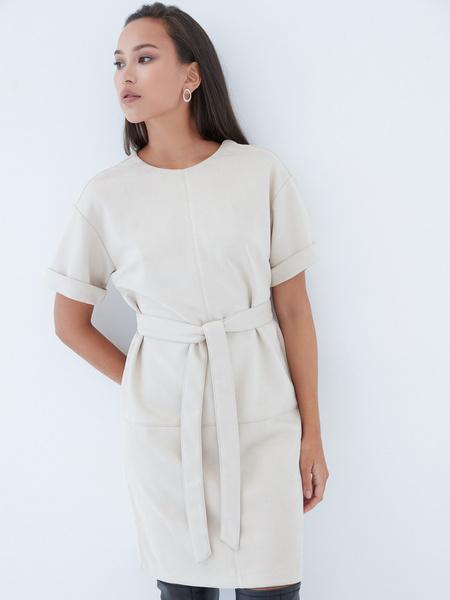 Замшевое платье - фото 1