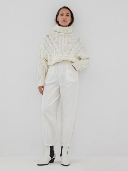 Белые вельветовые брюки - фото 2