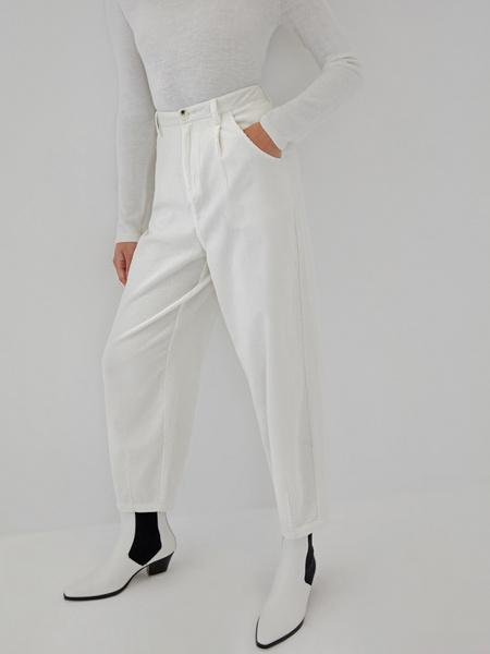 Белые вельветовые брюки - фото 5