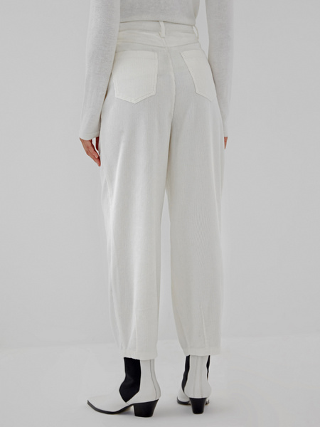 Белые вельветовые брюки - фото 7