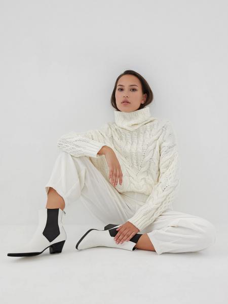 Белые вельветовые брюки - фото 8