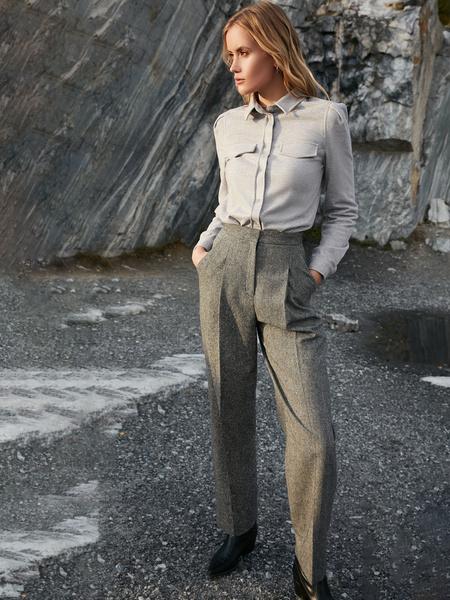 Прямые брюки с шерстью