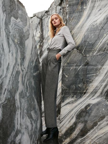 Прямые брюки с шерстью - фото 2