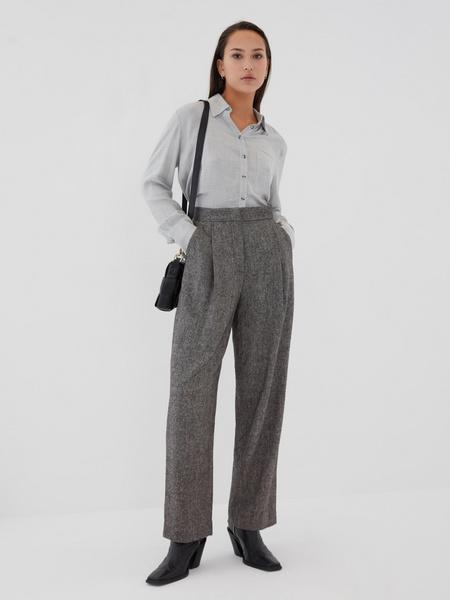 Прямые брюки с шерстью - фото 3