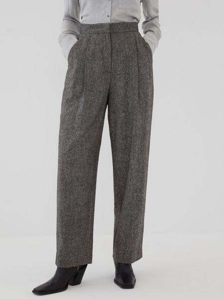Прямые брюки с шерстью - фото 4