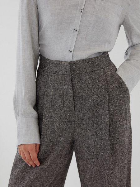 Прямые брюки с шерстью - фото 5
