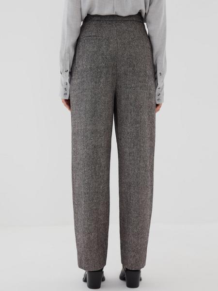Прямые брюки с шерстью - фото 6