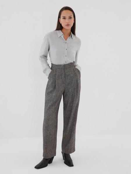 Прямые брюки с шерстью - фото 7