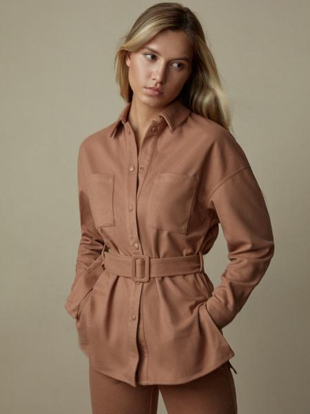 Блузка с поясом - фото 1