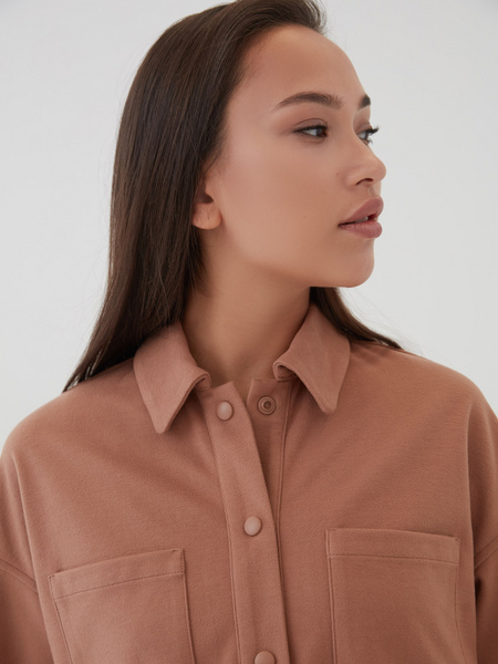 Блузка с поясом - фото 4