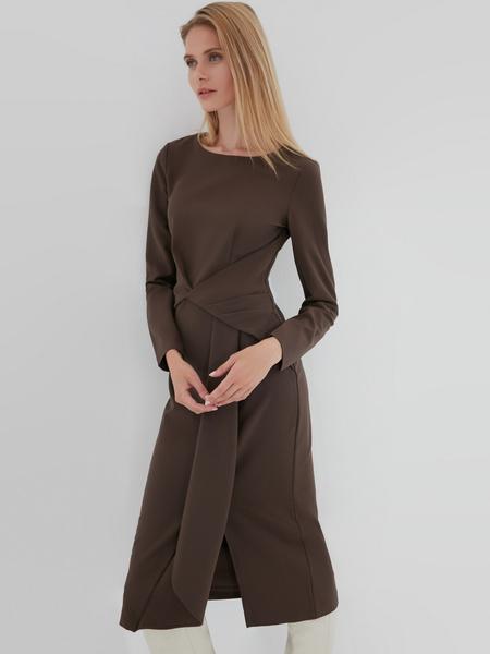 Платье с перекрученным поясом - фото 1