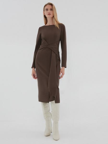 Платье с перекрученным поясом - фото 2