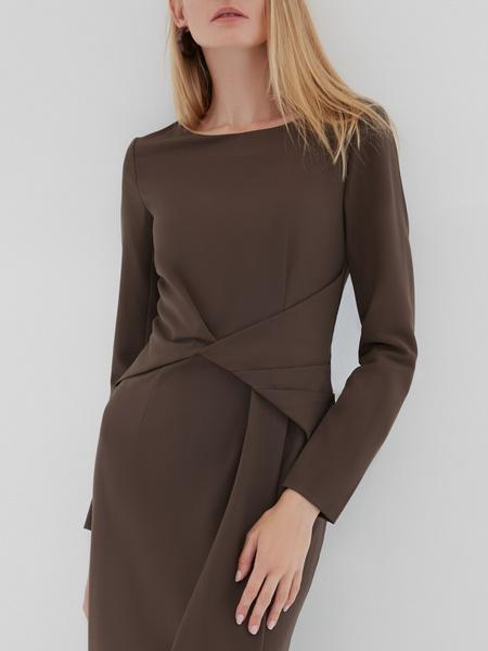 Платье с перекрученным поясом - фото 3