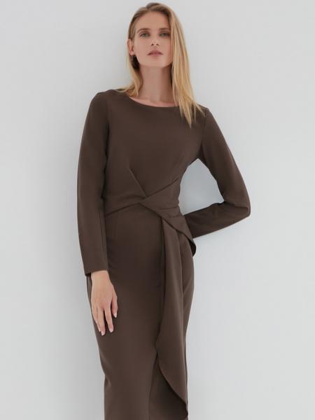 Платье с перекрученным поясом - фото 4