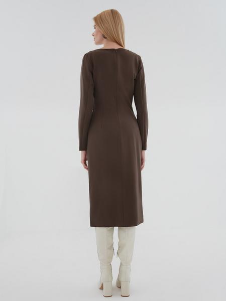 Платье с перекрученным поясом - фото 5