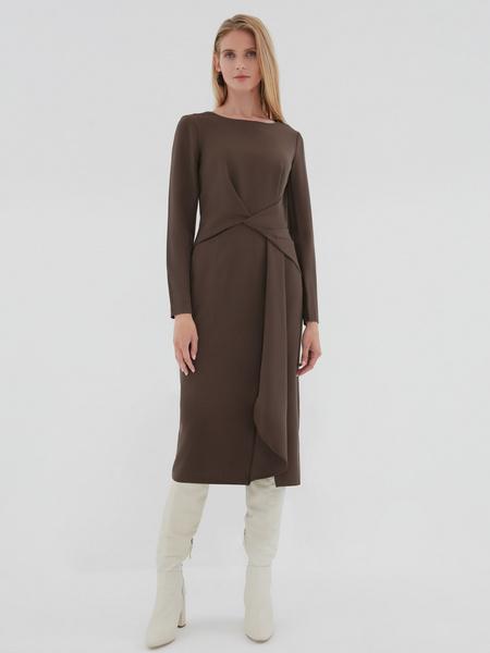 Платье с перекрученным поясом - фото 6
