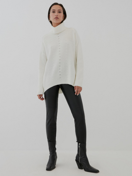 Узкие брюки из экокожи - фото 2
