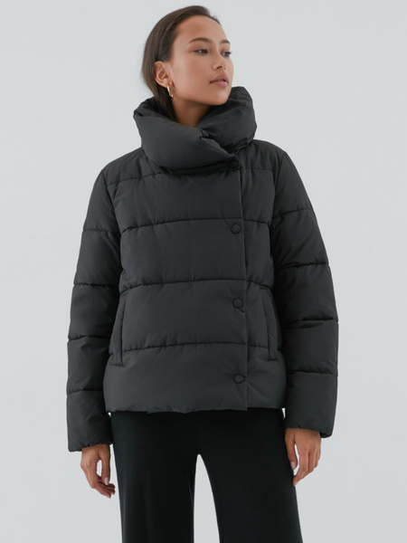 Куртка с объемным воротником - фото 5