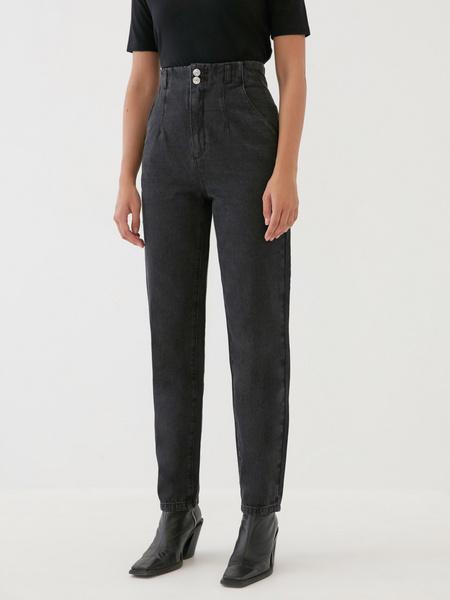 Укороченные джинсы с высокой талией - фото 2