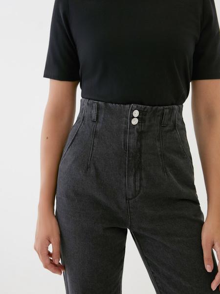 Укороченные джинсы с высокой талией - фото 3