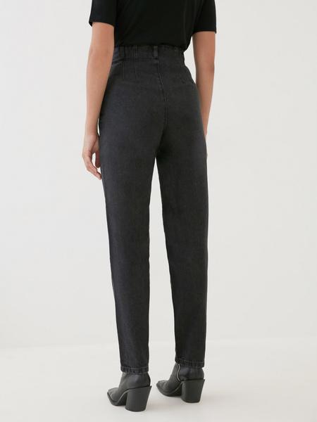 Укороченные джинсы с высокой талией - фото 4