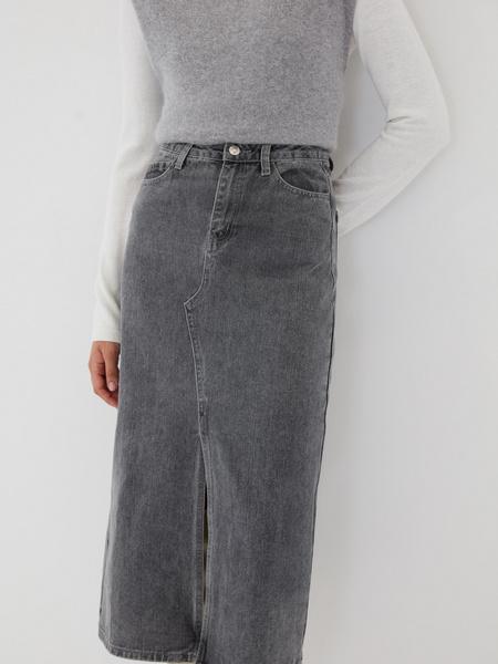 Джинсовая юбка-миди - фото 5