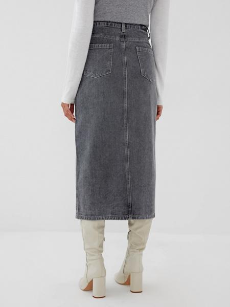 Джинсовая юбка-миди - фото 6