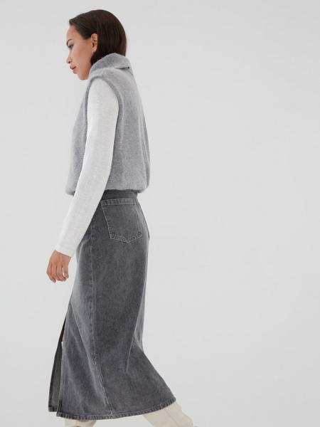 Джинсовая юбка-миди - фото 8