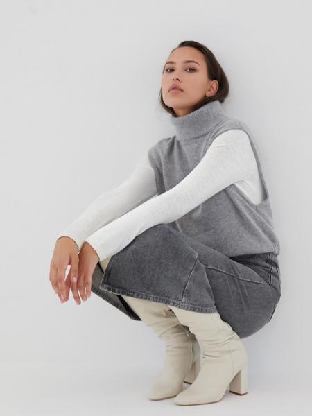 Джинсовая юбка-миди - фото 9
