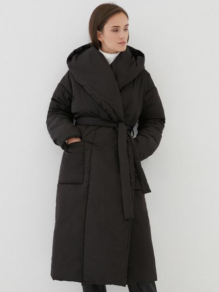 Пальто на поясе