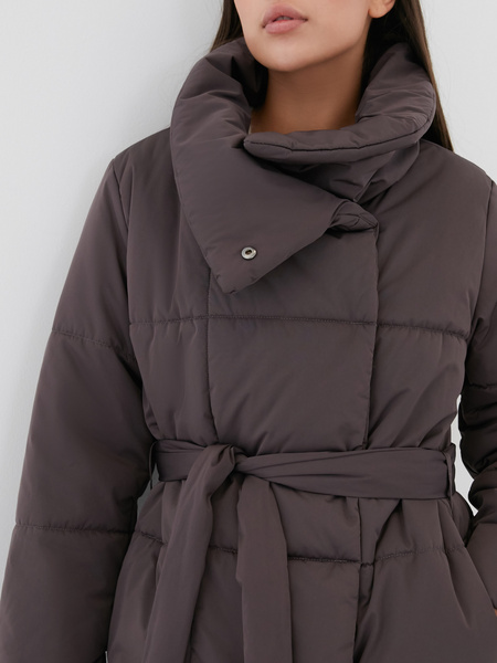 Пальто на поясе - фото 2