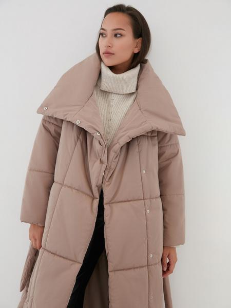 Пальто на поясе - фото 4