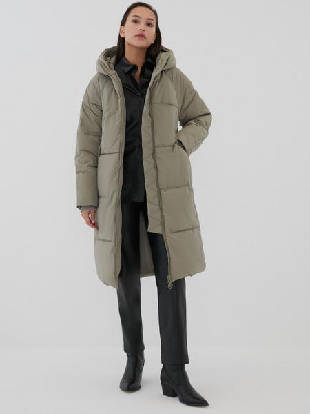 Пальто с капюшоном - фото 6