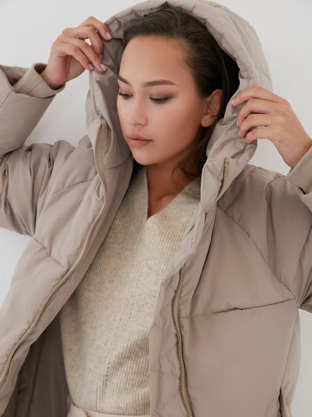 Пальто с капюшоном - фото 3