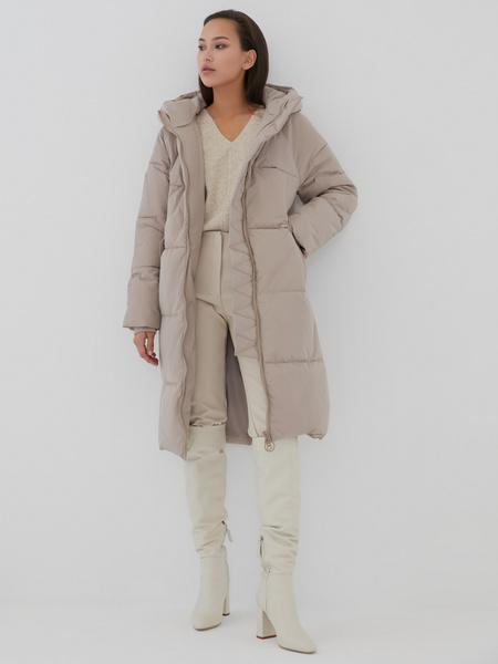 Пальто с капюшоном - фото 7