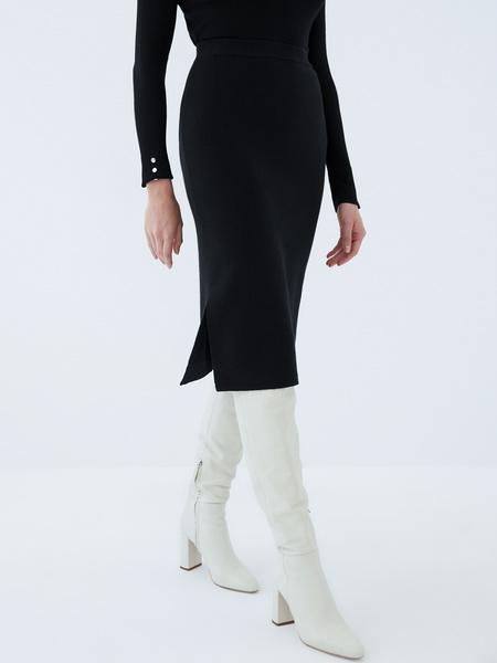 Трикотажная юбка - фото 3